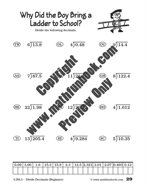 Grade 6 Common Core Math Worksheets - Math Funbook