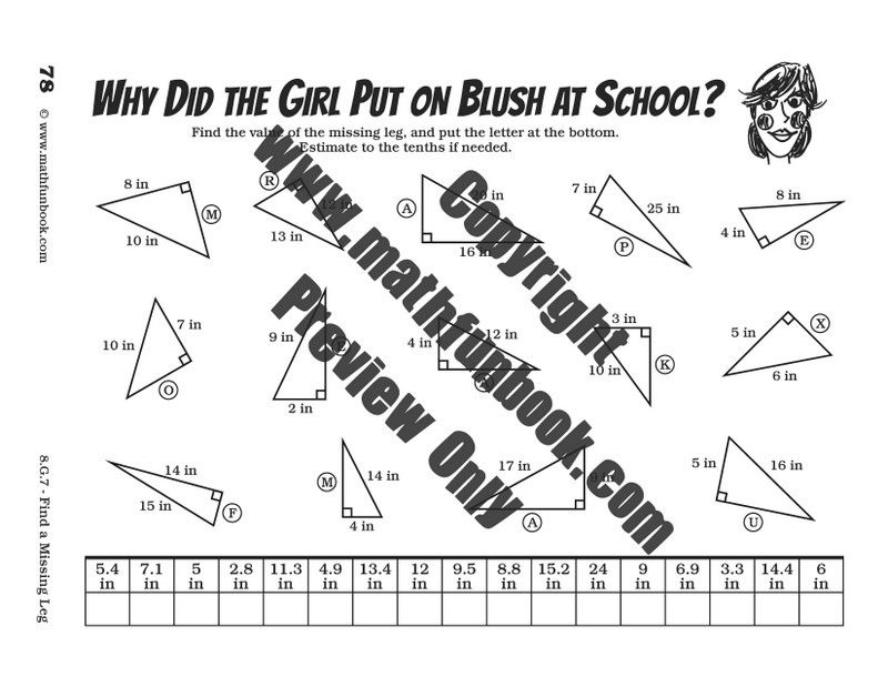 Grade 8 Common Core Math Worksheets - Math Funbook